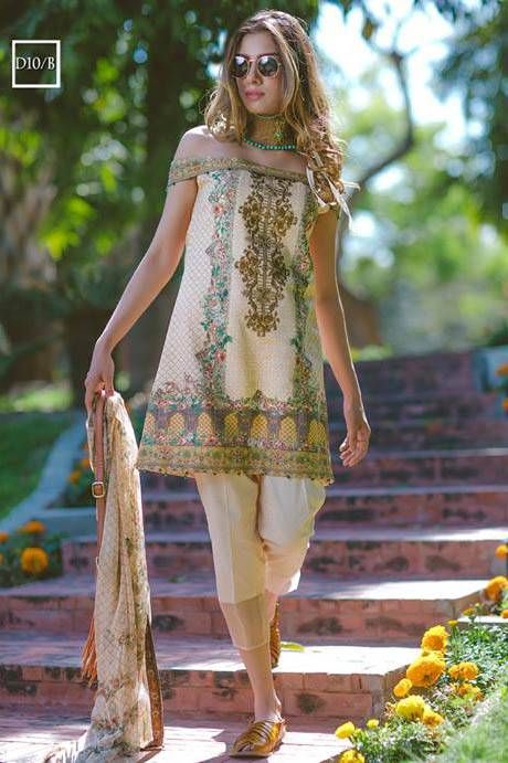 Noor by Saadia Asad Embroidered Lawn Unstitched 3 Piece Suit SA17L 10B