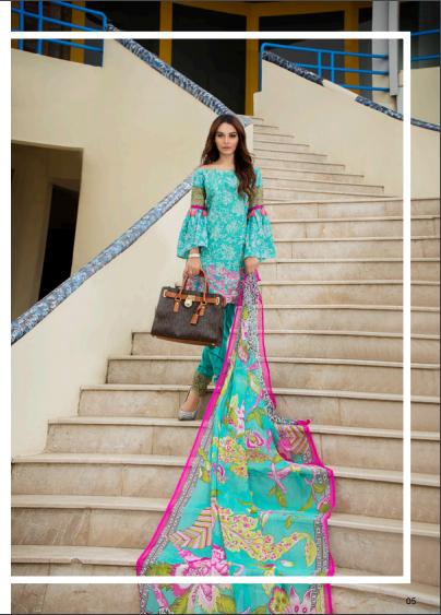 Zohan Textile Embroidered Lawn Unstitched 3 Piece Suit SAZ17L 1A