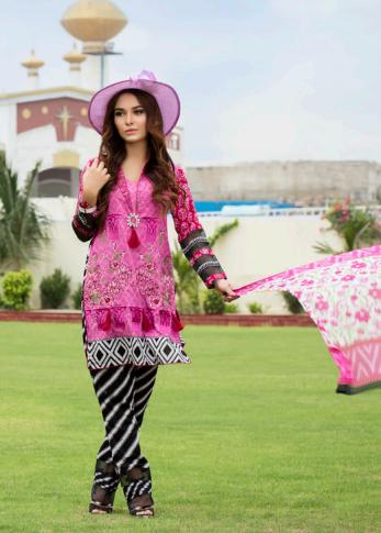 Zohan Textile Embroidered Lawn Unstitched 3 Piece Suit SAZ17L 2A