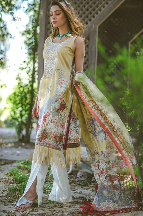 Noor by Saadia Asad Embroidered Lawn Unstitched 3 Piece Suit SA17L 3A
