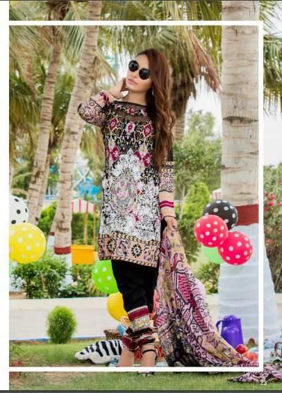 Zohan Textile Embroidered Lawn Unstitched 3 Piece Suit SAZ17L 4A