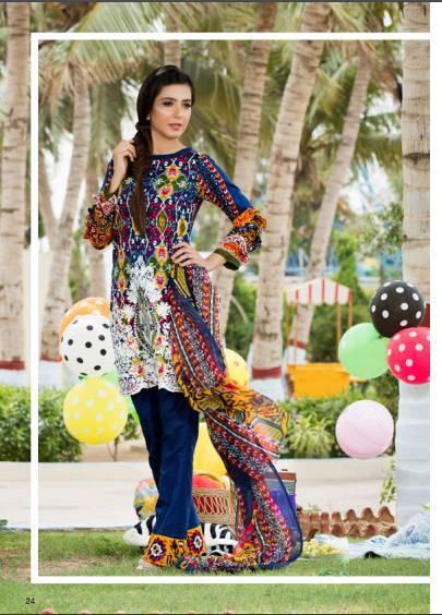 Zohan Textile Embroidered Lawn Unstitched 3 Piece Suit SAZ17L 4B