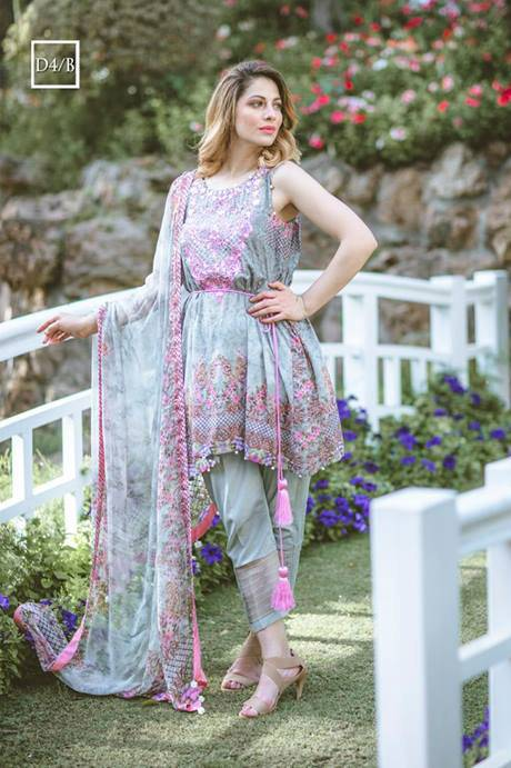Noor by Saadia Asad Embroidered Lawn Unstitched 3 Piece Suit SA17L 4B