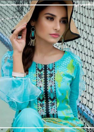 Zohan Textile Embroidered Lawn Unstitched 3 Piece Suit SAZ17L 8A