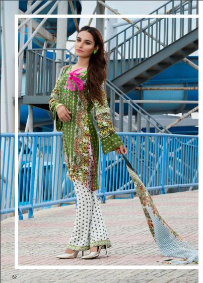 Zohan Textile Embroidered Lawn Unstitched 3 Piece Suit SAZ17L 9B