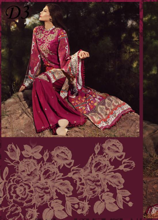 Noor by Saadia Asad Embroidered Khaddar Unstitched 3 Piece Suit SA17W 03