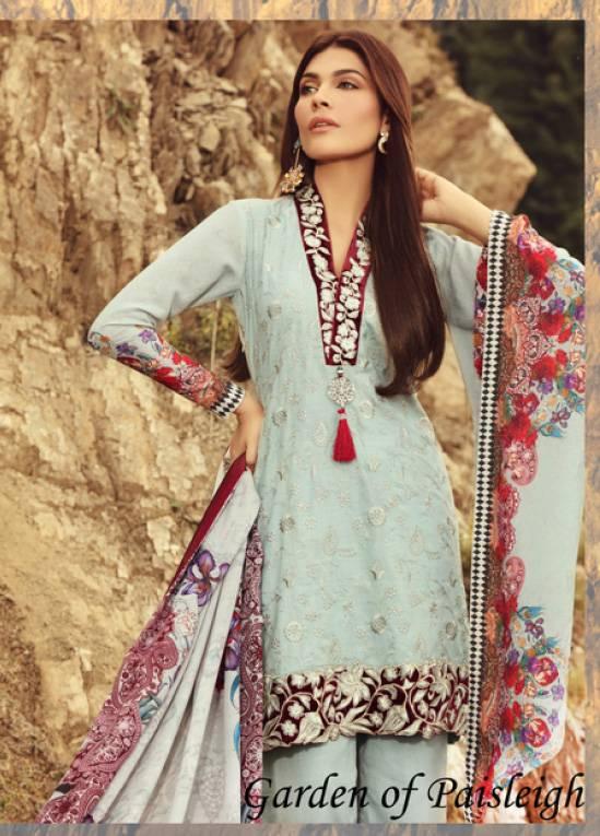 Noor by Saadia Asad Embroidered Karandi Unstitched 3 Piece Suit SA17W 04