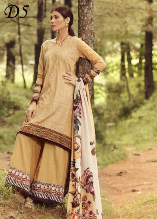 Noor by Saadia Asad Embroidered Karandi Unstitched 3 Piece Suit SA17W 05