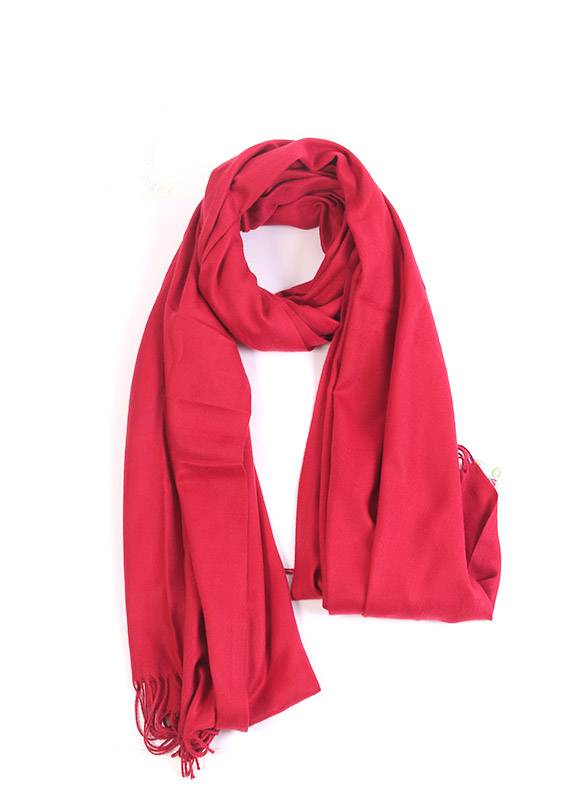 Red Plain Pashmina Stoles for ladies - SA 411