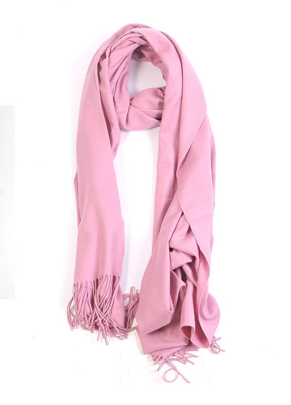 Pink Plain Pashmina Stoles for women - SA 412