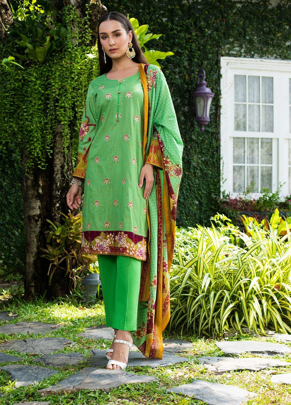 Sahil By ZS Textiles Embroidered Lawn Unstitched 3 Piece Suit SL19MS 3B - Mid Summer Collection