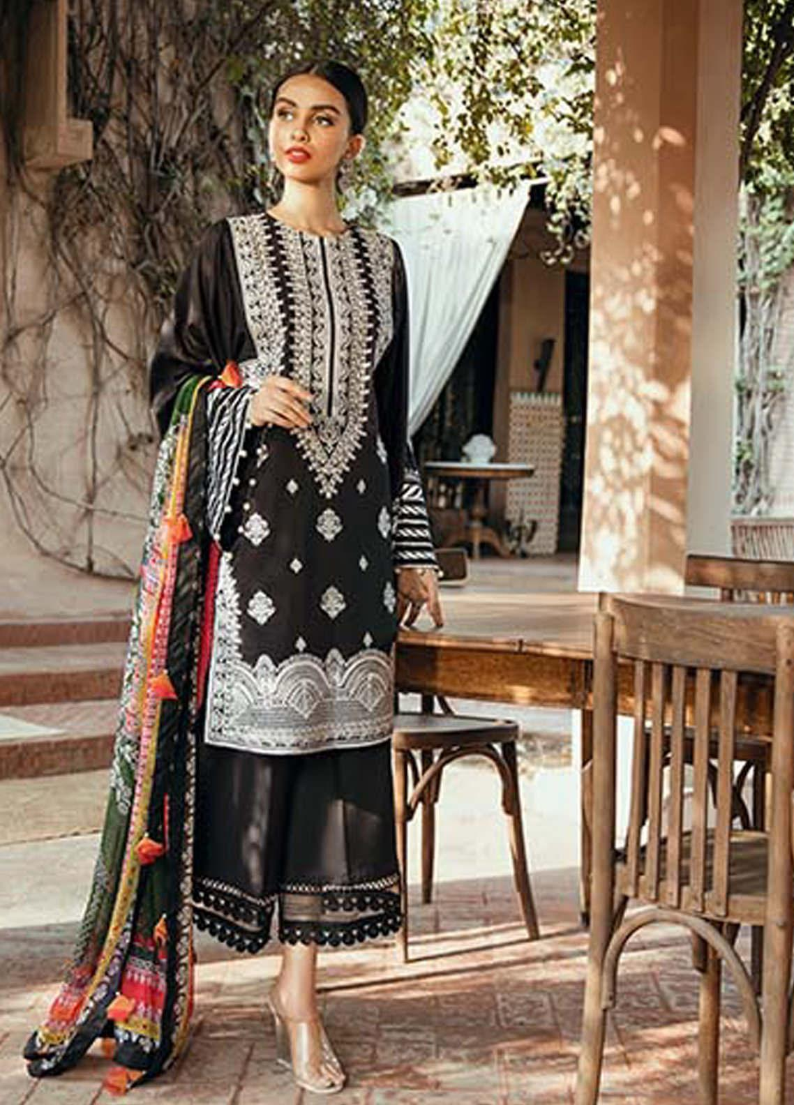 Saira Rizwan Embroidered Lawn Unstitched 3 Piece Suit SR20L-2 04 LUNA - Spring / Summer Collection