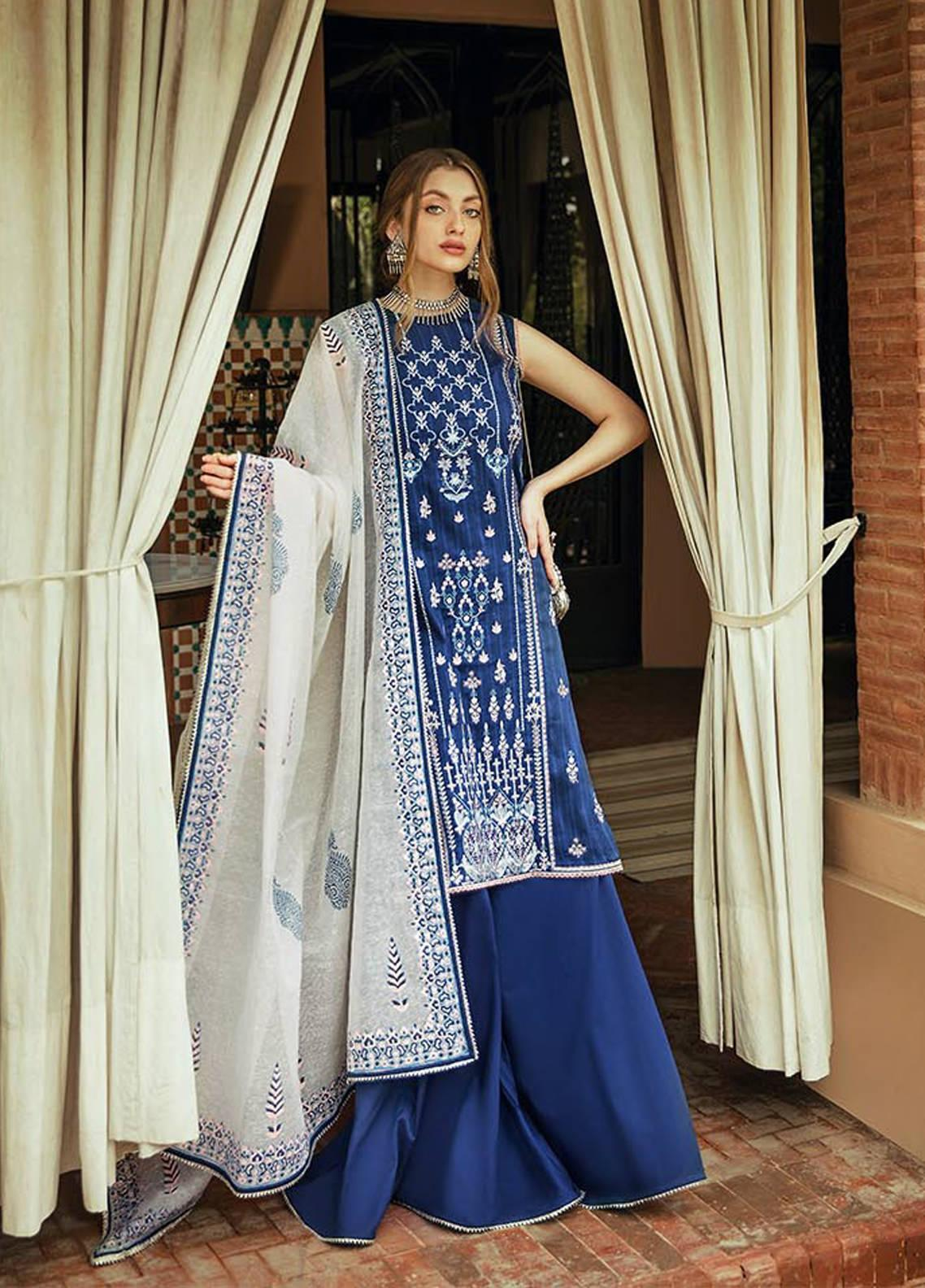 Saira Rizwan Embroidered Lawn Unstitched 3 Piece Suit SR20L-2 05 TASNIM - Spring / Summer Collection