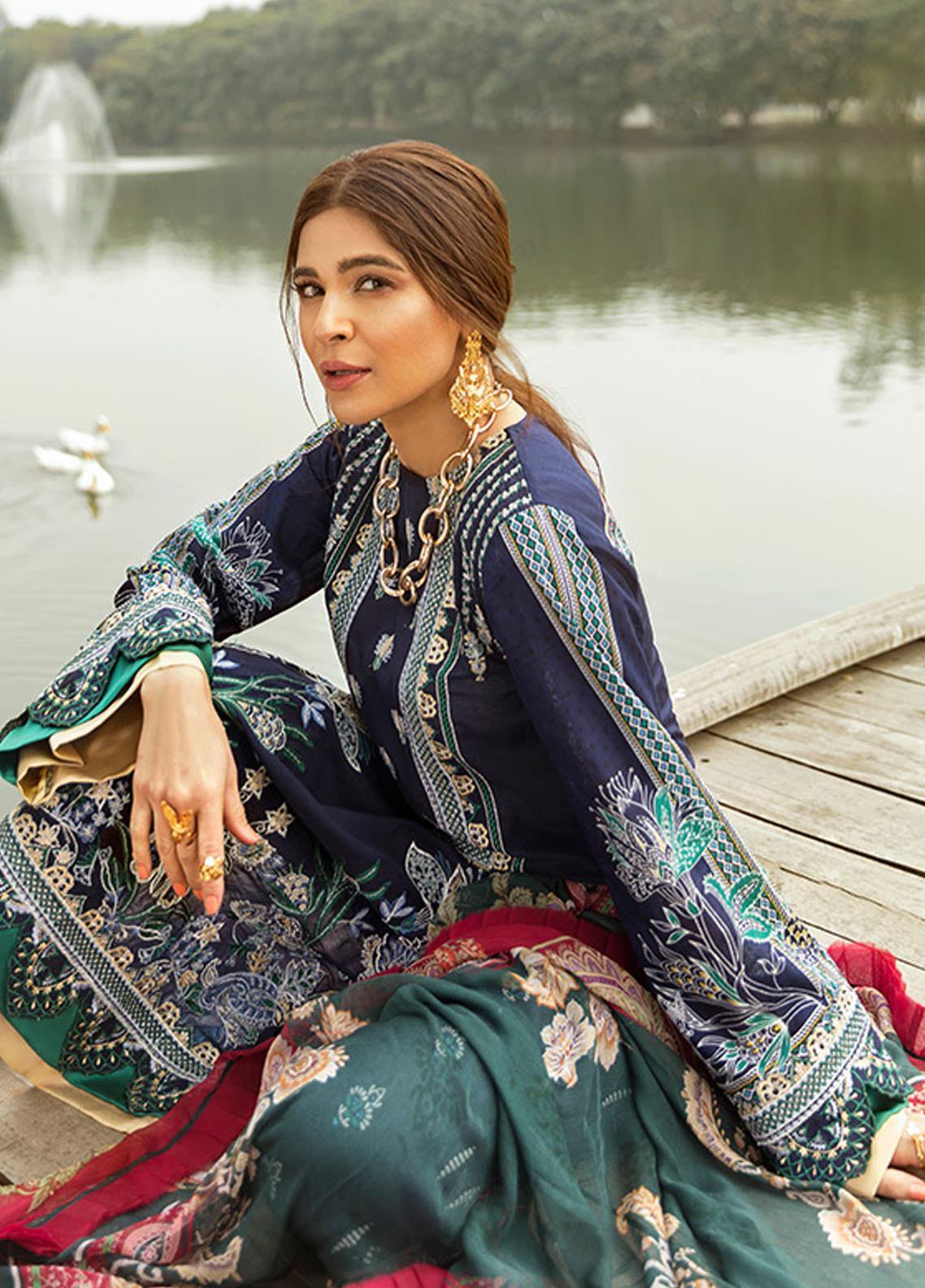 Saira Rizwan Embroidered Lawn Suits Unstitched 3 Piece SR21L 12 Fasana-e-Ishq - Summer Collection