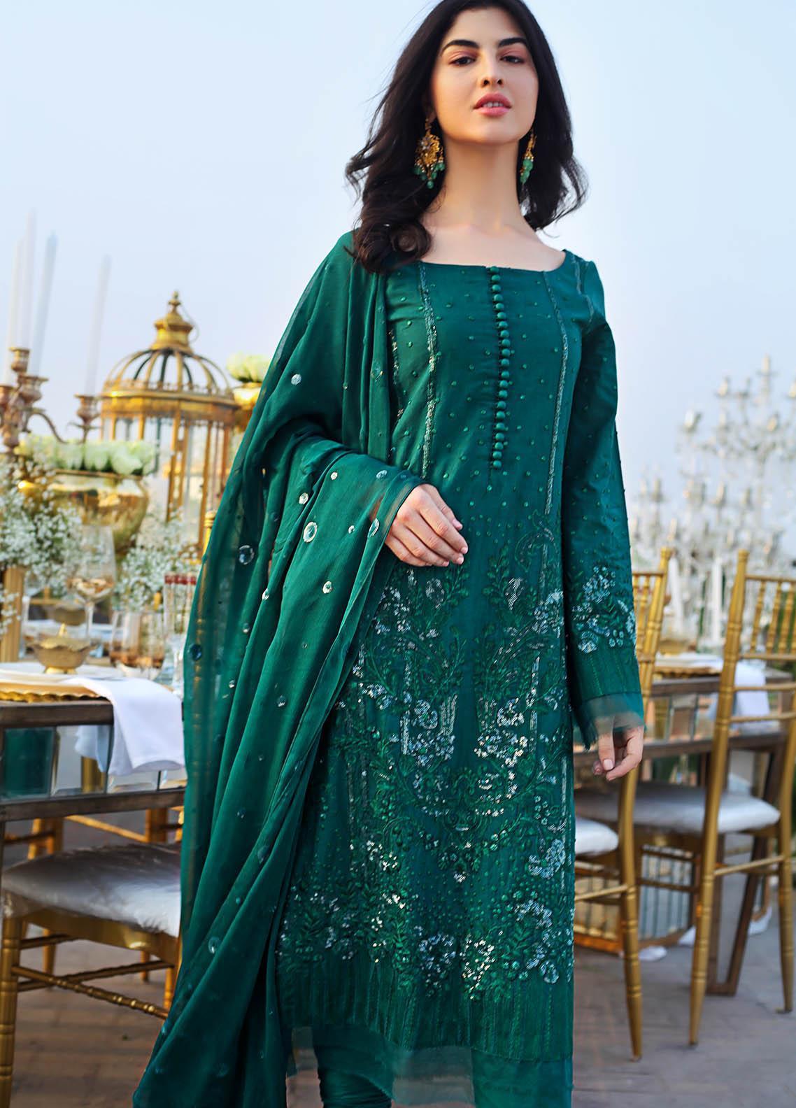 Saira Rizwan Embroidered Lawn Suits Unstitched 3 Piece SR21E 02 Kai - Eid Collection