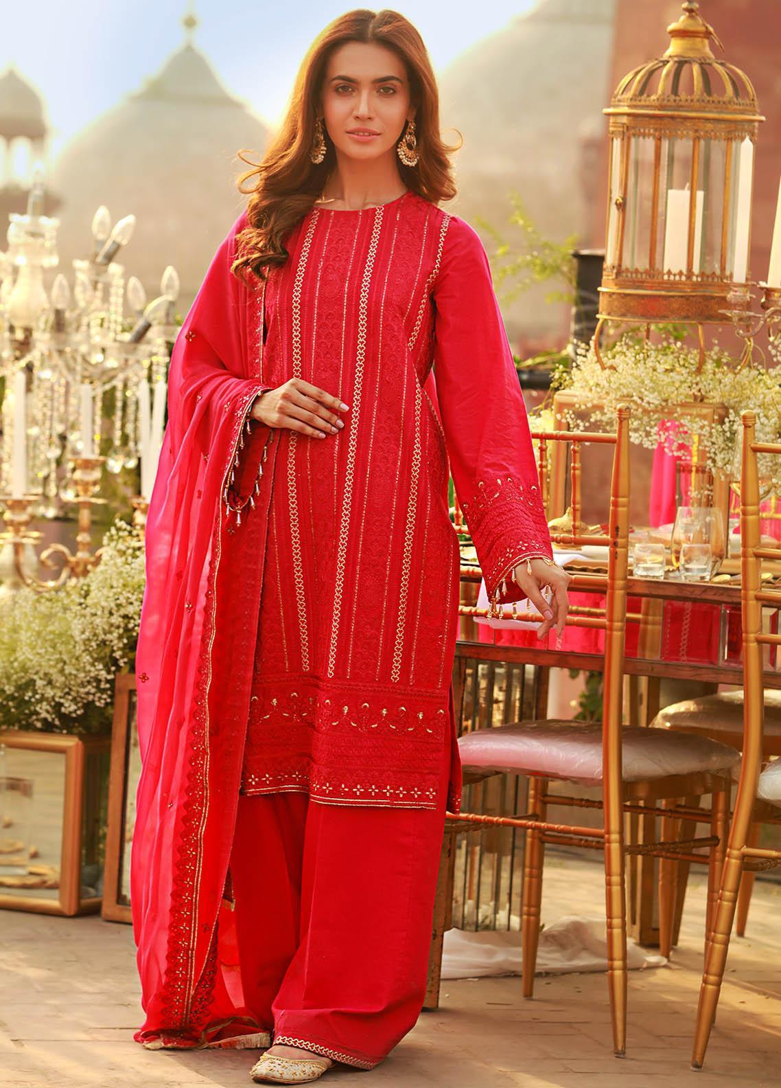 Saira Rizwan Embroidered Lawn Suits Unstitched 3 Piece SR21E 04 Della - Eid Collection