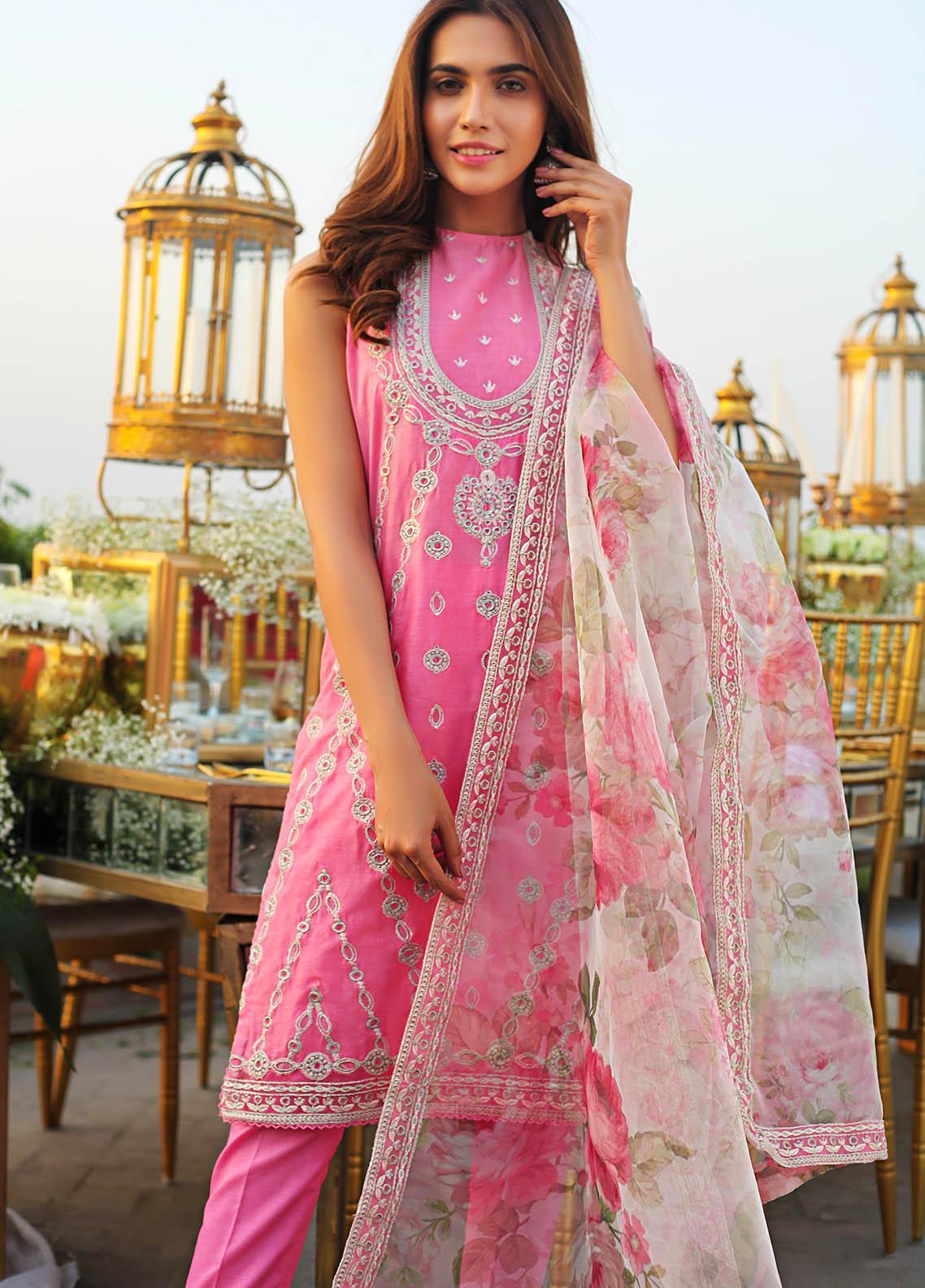 Saira Rizwan Embroidered Lawn Suits Unstitched 3 Piece SR21E 06 Nova - Eid Collection