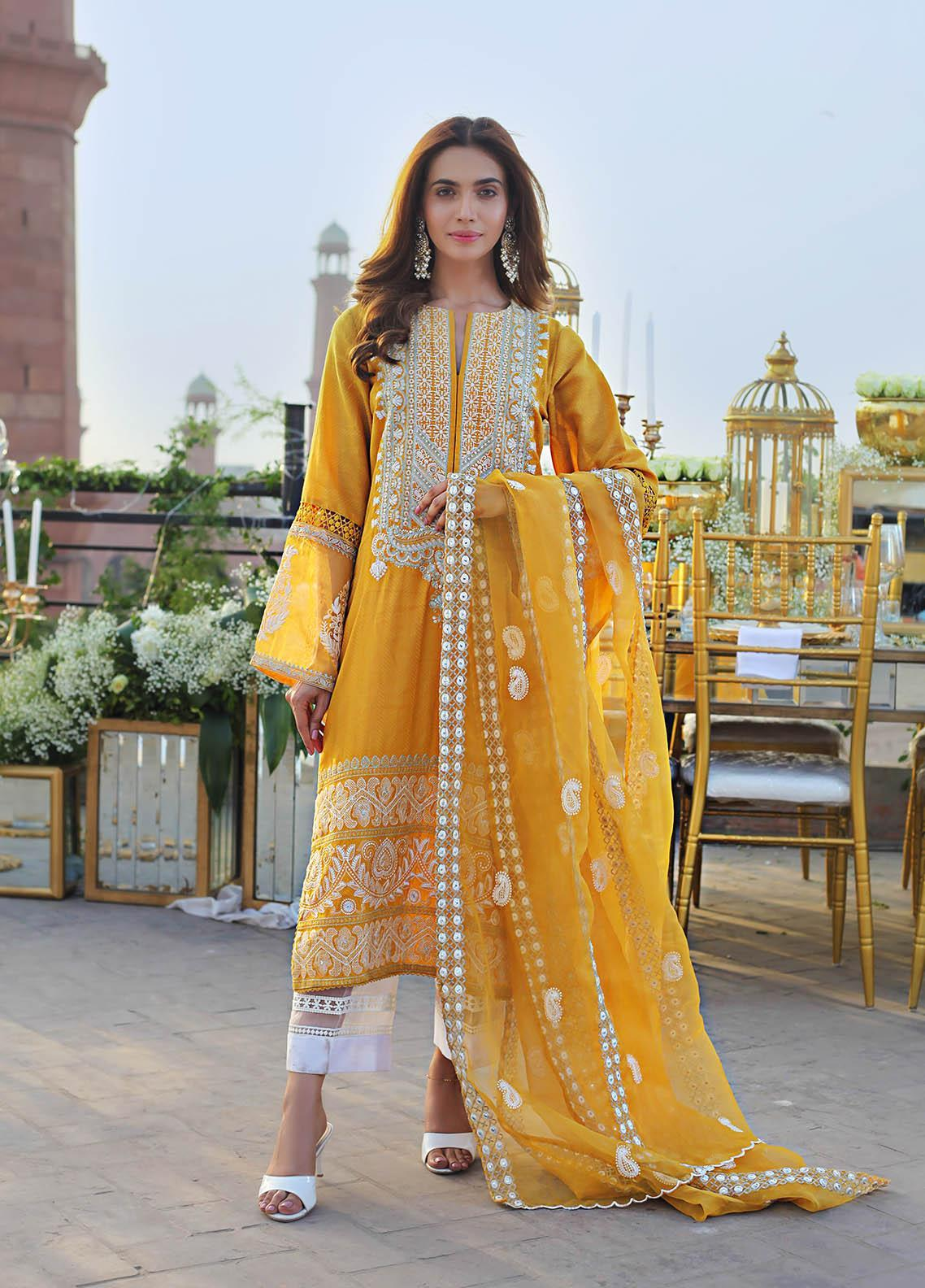 Saira Rizwan Embroidered Lawn Suits Unstitched 3 Piece SR21E 08 Haley - Eid Collection