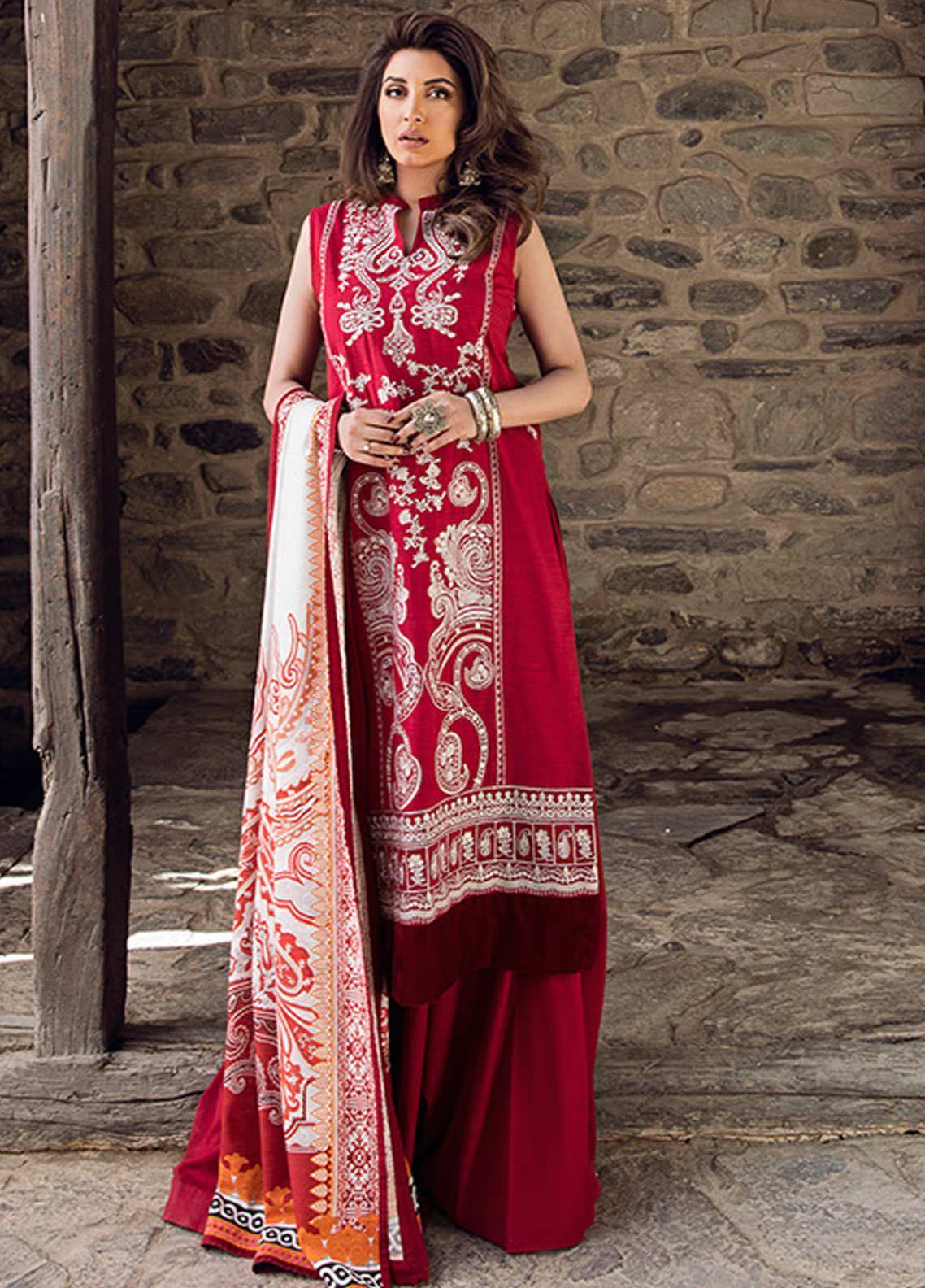 Saira Rizwan Embroidered Khaddar Unstitched 3 Piece Suit SR20W 04 AELIN - Winter Collection
