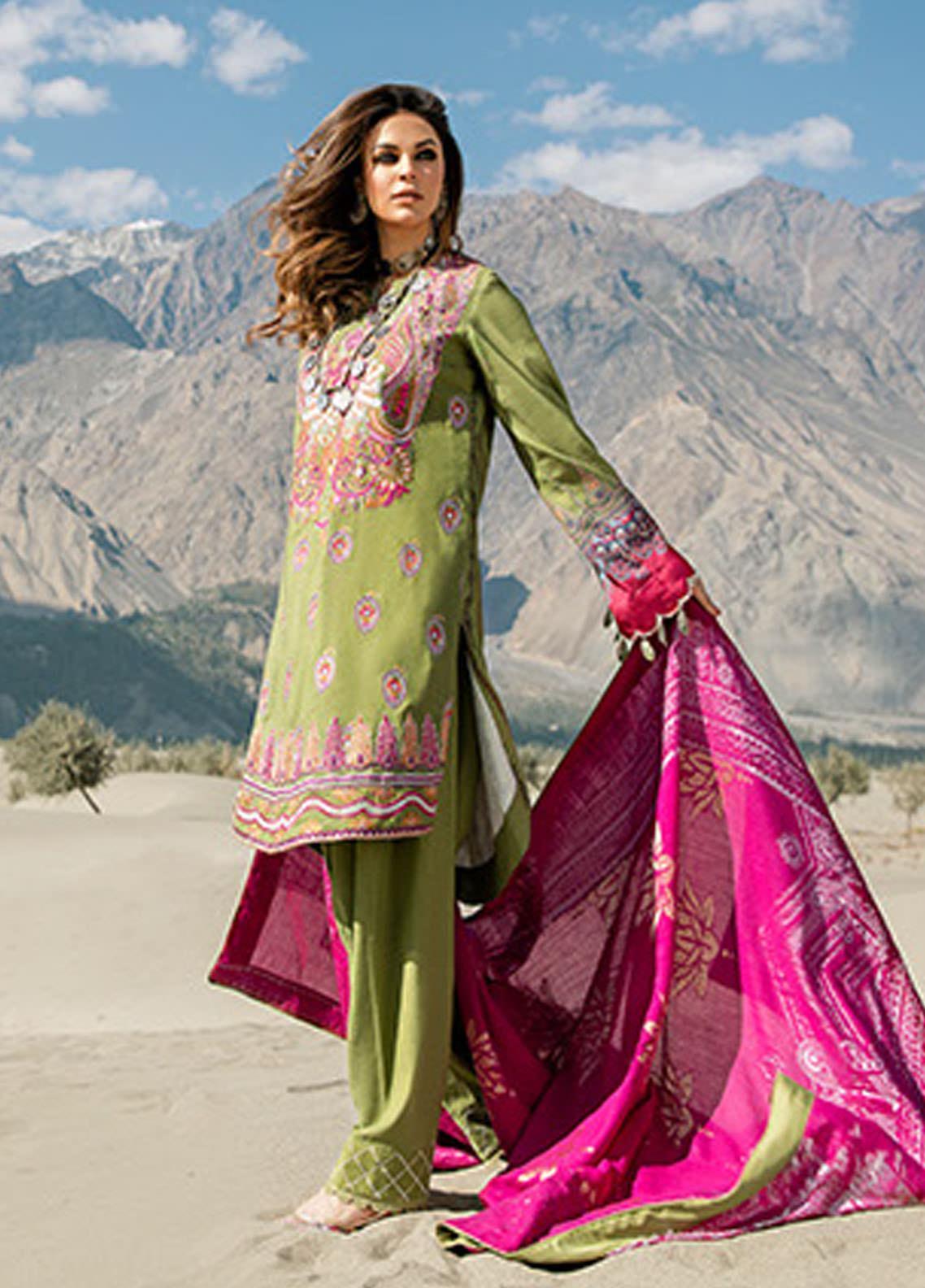 Saira Rizwan Embroidered Karandi Unstitched 3 Piece Suit SR20W 09 INARA - Winter Collection