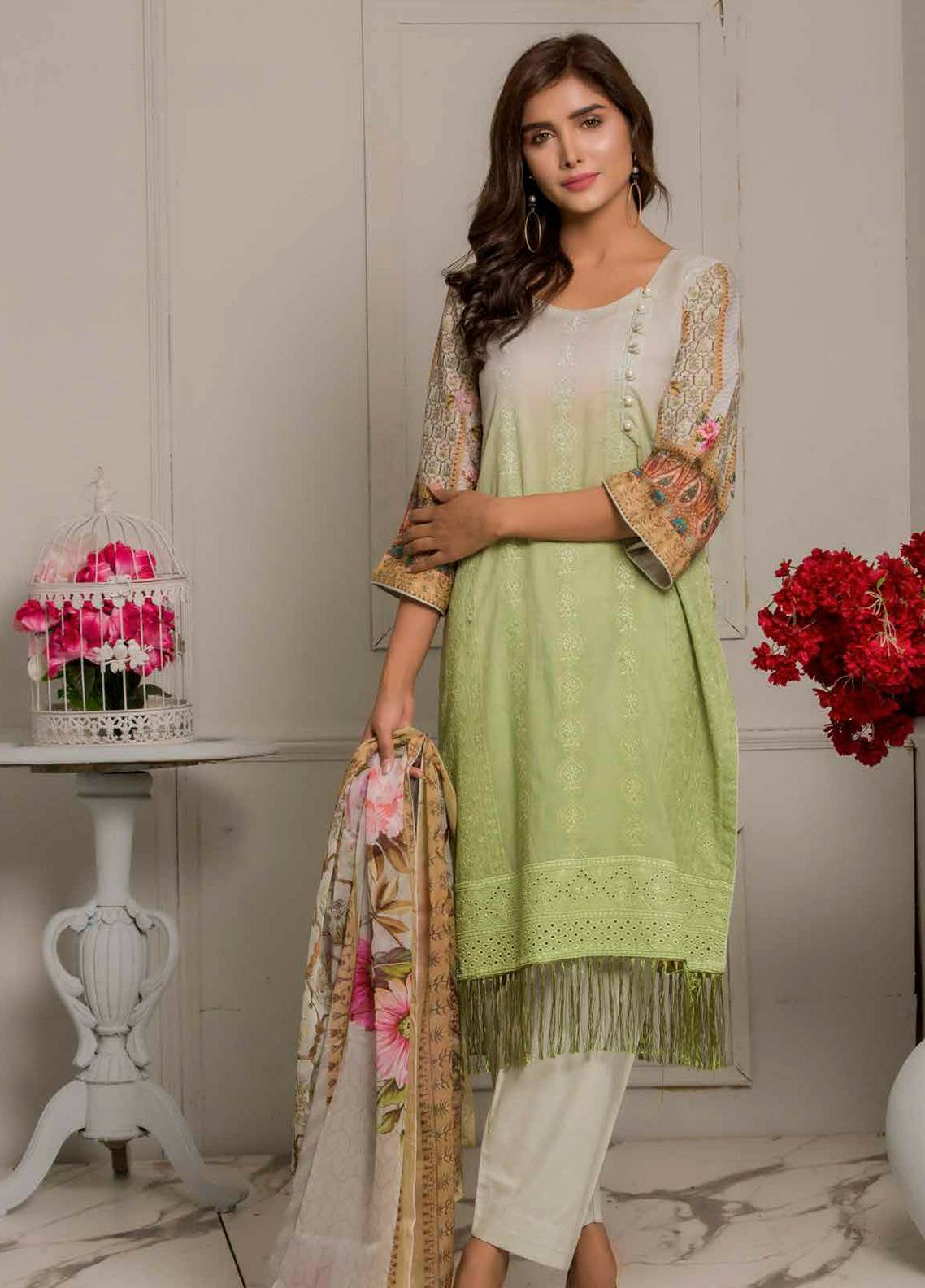 Salina by Regalia Textiles Embroidered Lawn Unstitched 3 Piece Suit SRG19F 07 - Festive Collection