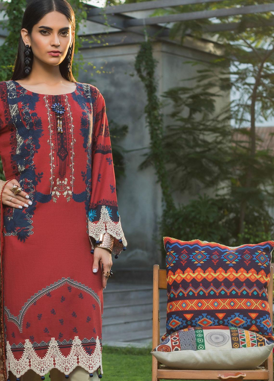 Salina by Regalia Textiles Printed Khaddar Unstitched 3 Piece Suit RGT20-KD3 05 - Winter Collection