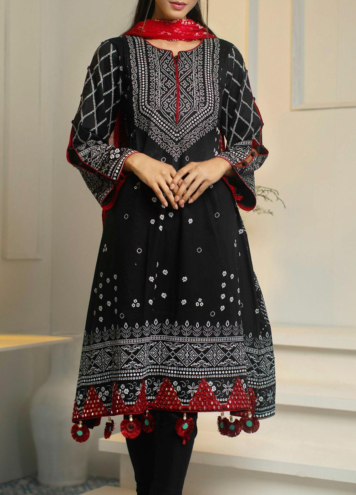 Samia by AB Textiles Printed Cotton Unstitched 3 Piece Suit AB20S 04 ROUGE - Winter Collection