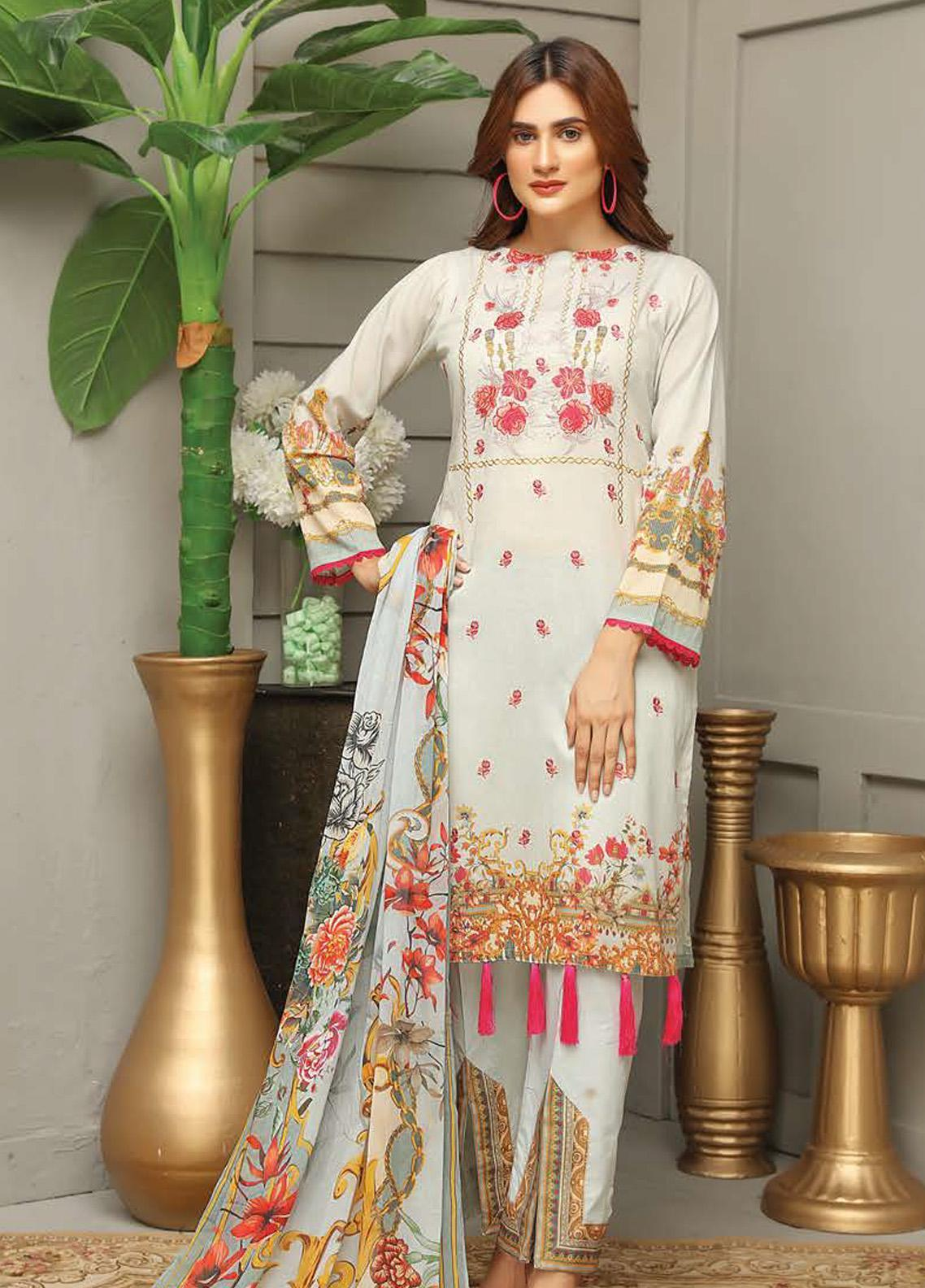 Sanam Saeed by Puri Fabrics Embroidered Lawn Unstitched 3 Piece Suit SS20PF 6 - Summer Collection
