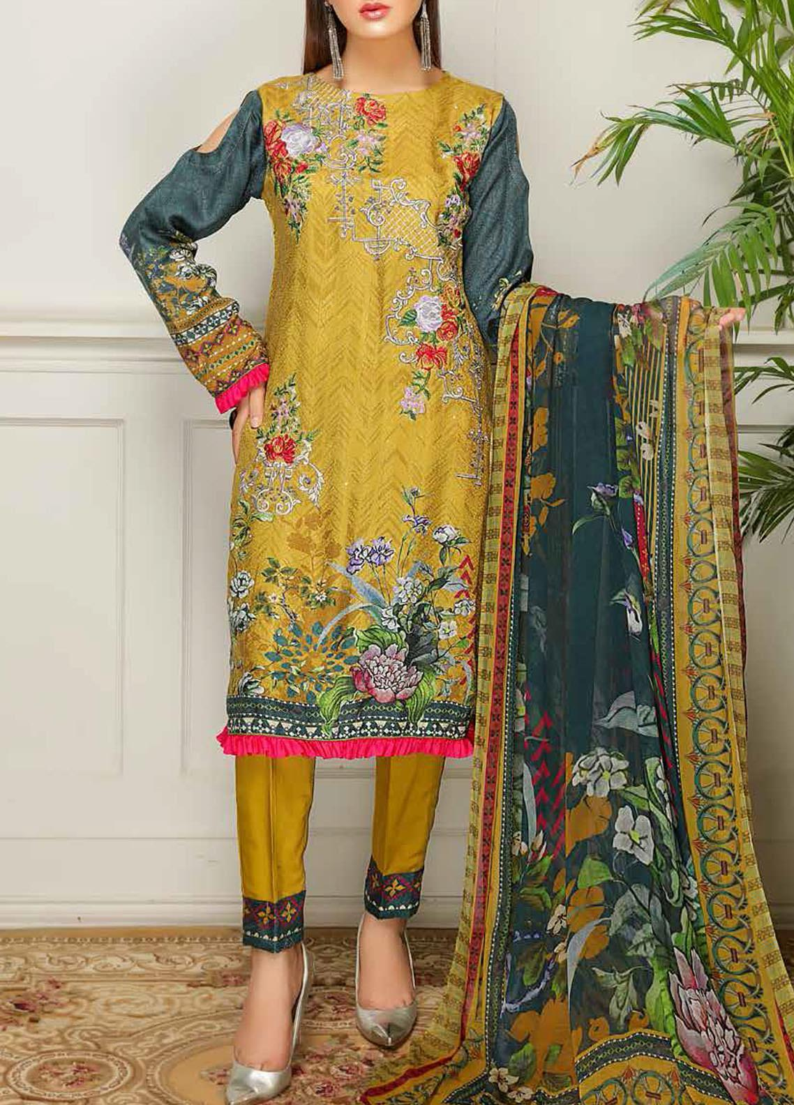 Sanam Saeed by Puri Fabrics Embroidered Viscose Unstitched 3 Piece Suit SS20JV 03 - Winter Collection