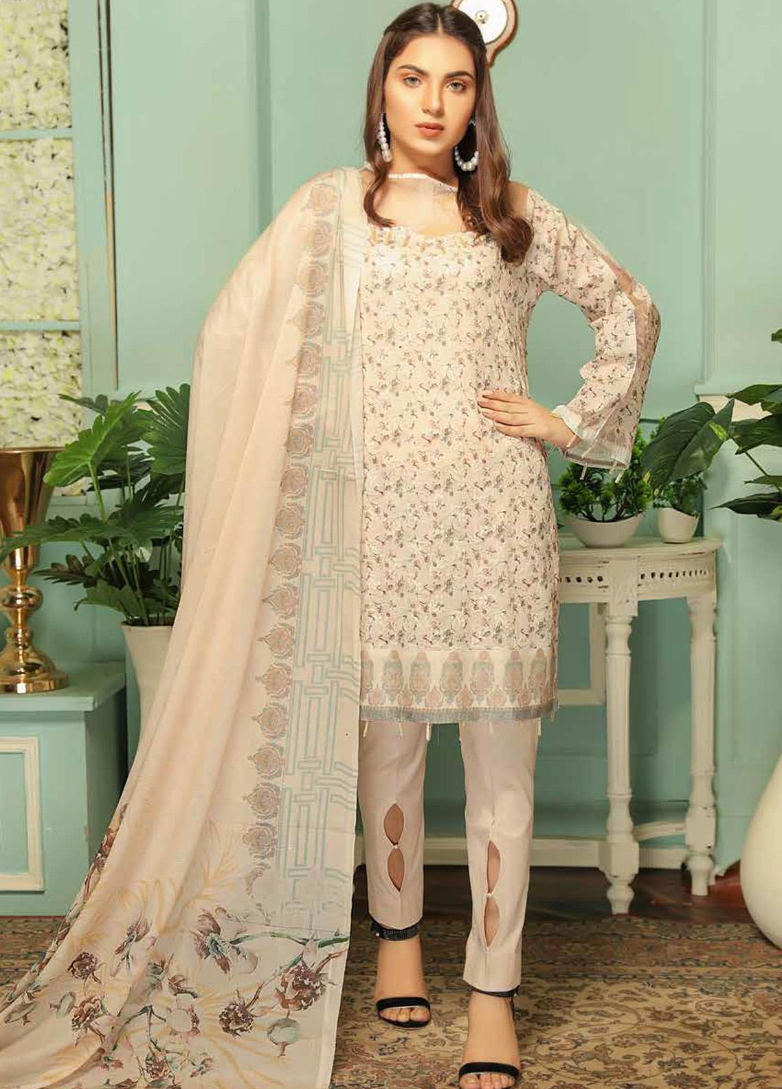 Sanam Saeed by Puri Fabrics Embroidered Lawn Unstitched 3 Piece Suit PF20MC 9 - Summer Collection