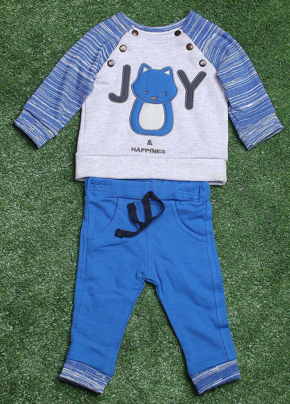 Sanaulla Exclusive Range  Fancy 2 Piece Suit for Boys -  1306 Blue