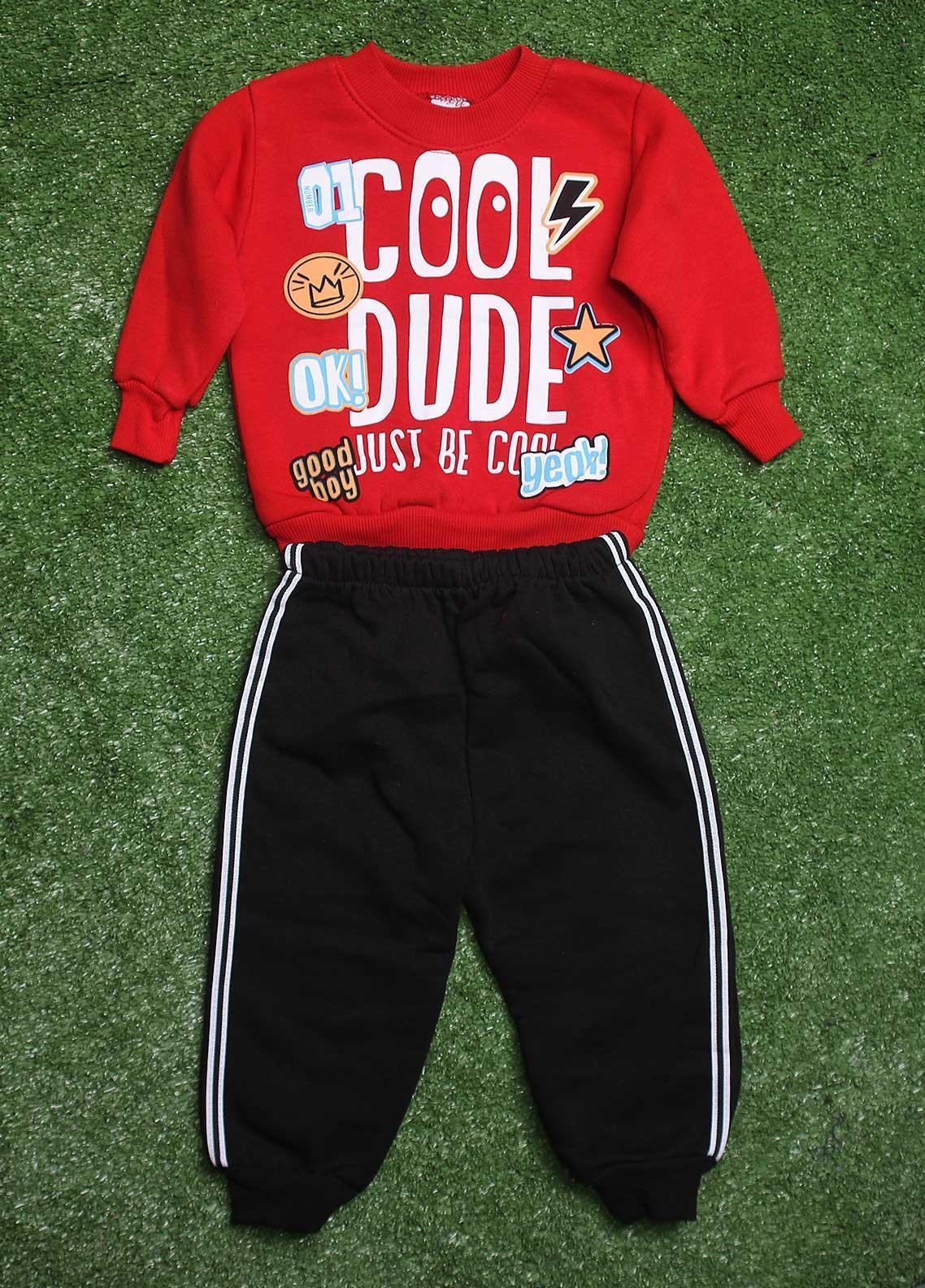 Sanaulla Exclusive Range  Fancy Boys 2 Piece Suit -  774K162 Red