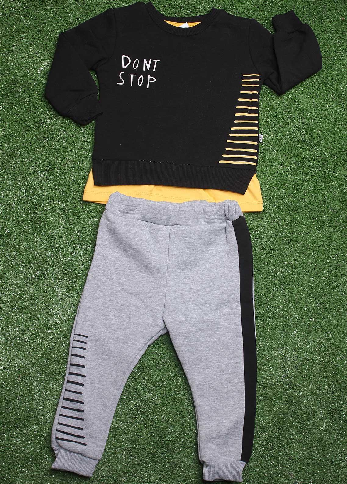 Sanaulla Exclusive Range  Fancy Boys 2 Piece Suit -  792K3188 Black