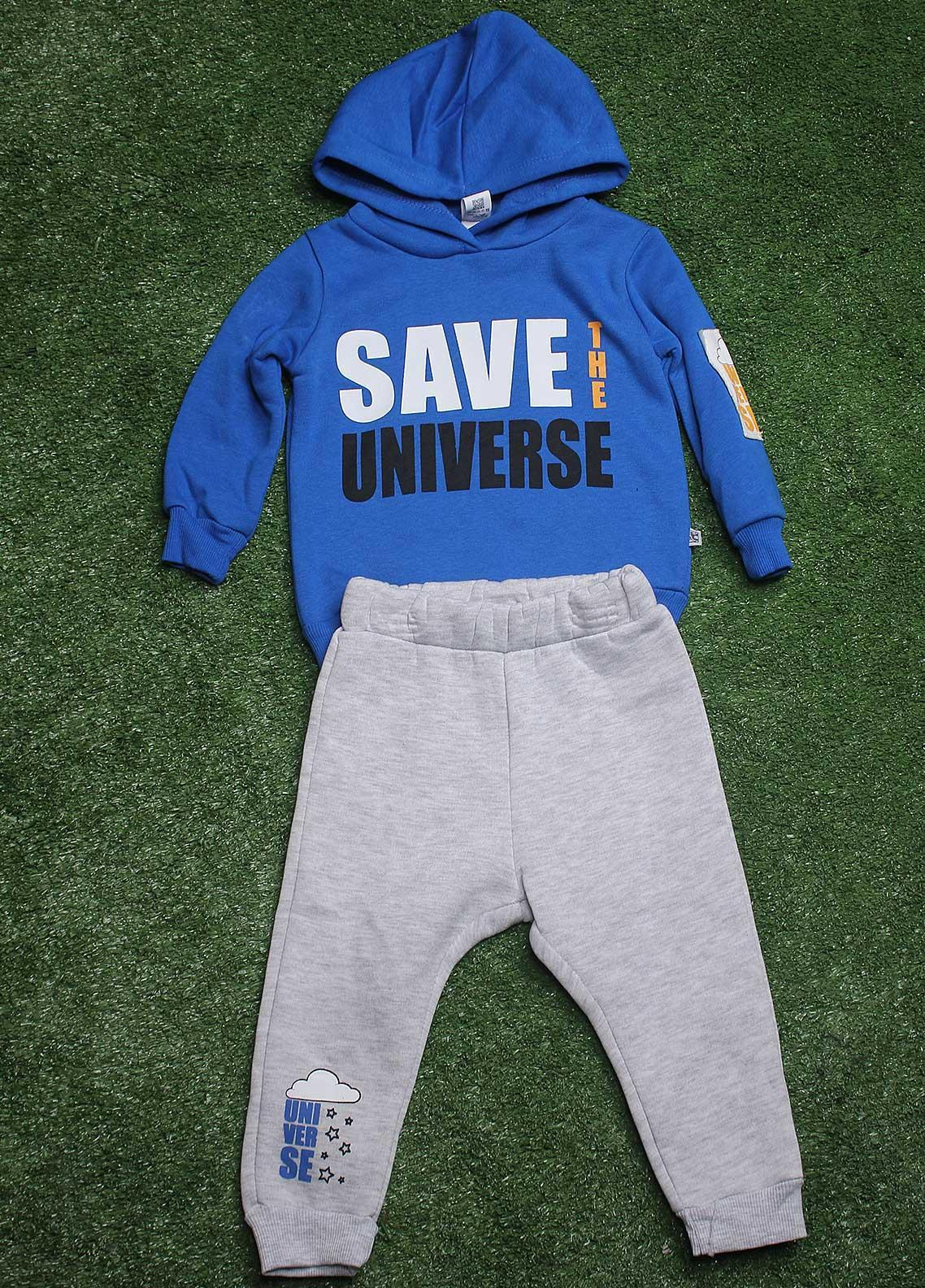 Sanaulla Exclusive Range  Fancy 2 Piece Suit for Boys -  792K3194 R-Blue