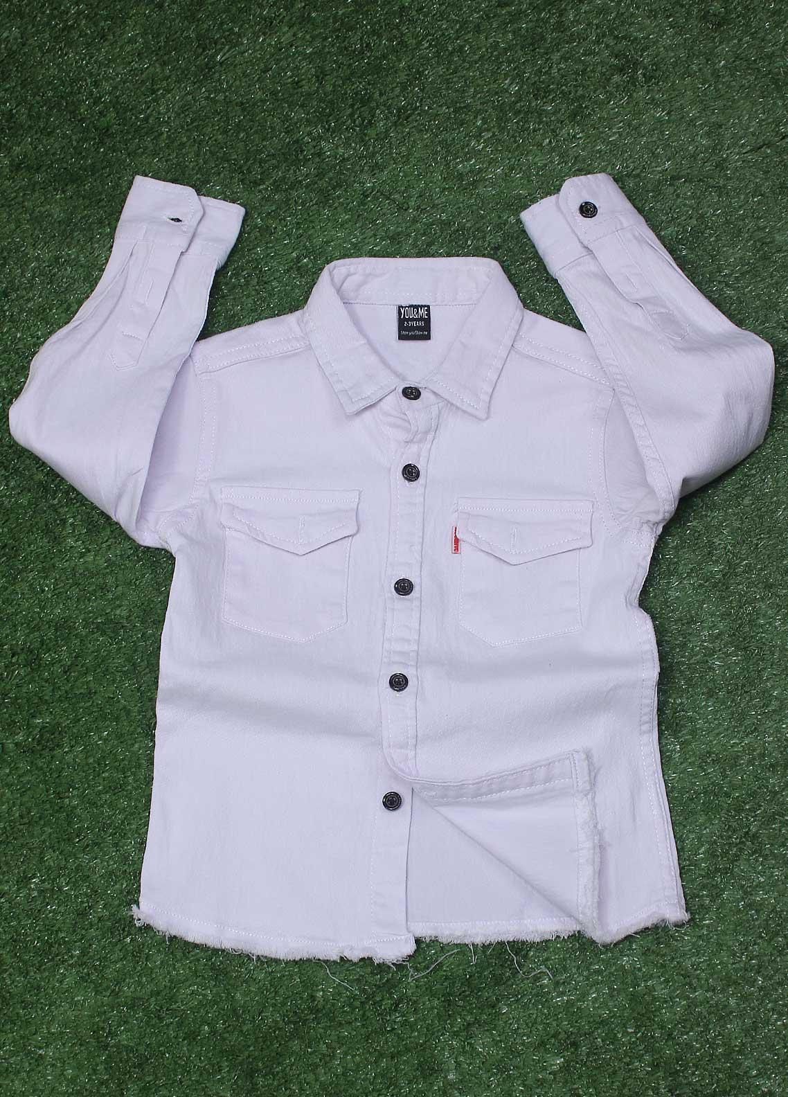 Sanaulla Exclusive Range  Fancy Shirt for Boys -  SU20BS  8156 White