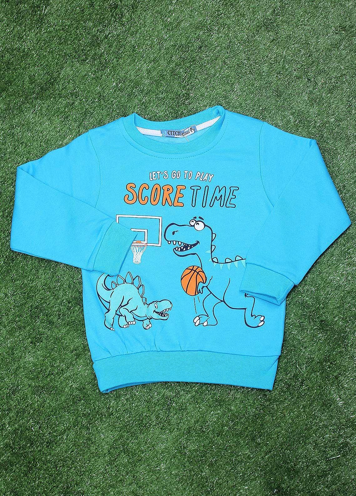Sanaulla Exclusive Range  Fancy Boys T-Shirt -  SU20BS 1081 SK-Blue