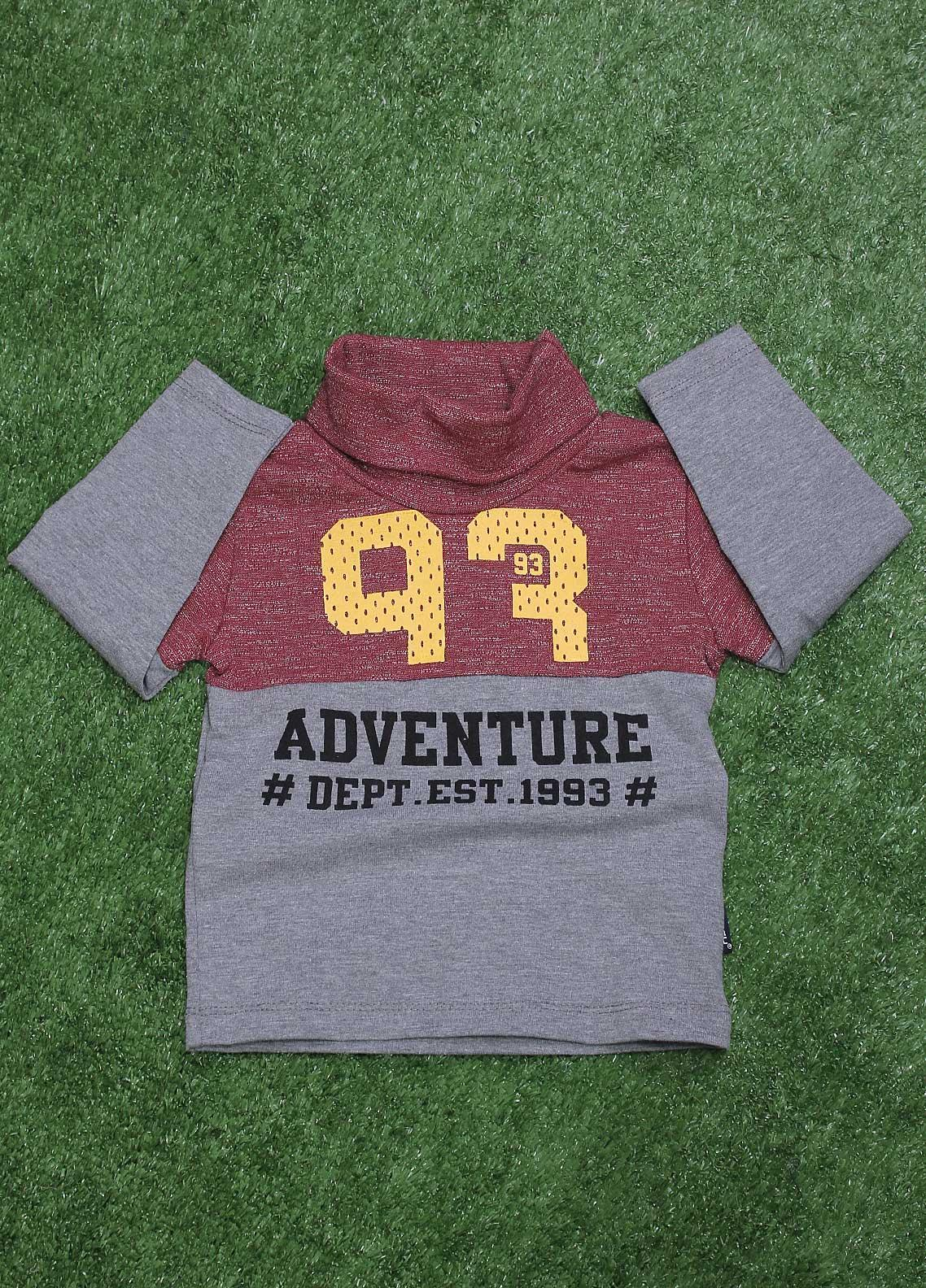 Sanaulla Exclusive Range  Fancy T-Shirt for Boys -  SU20BS 20-890 Maroon