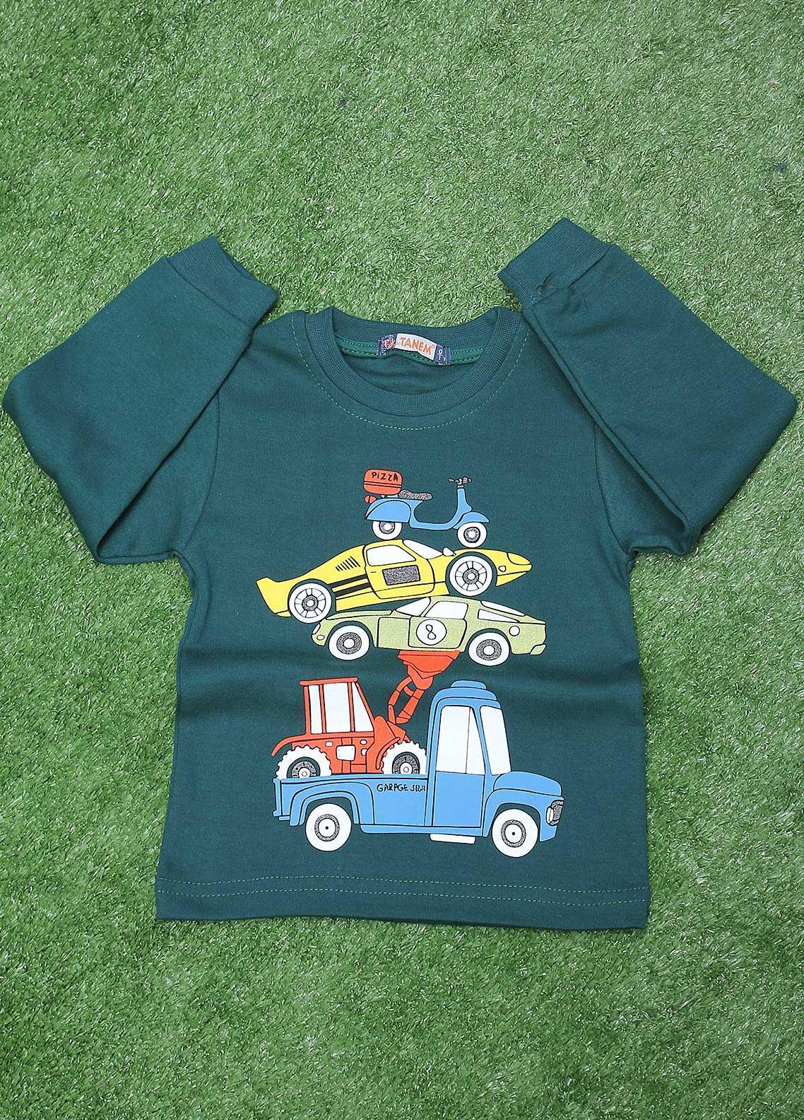 Sanaulla Exclusive Range  Fancy Boys T-Shirt -  SU20BS 79 Green