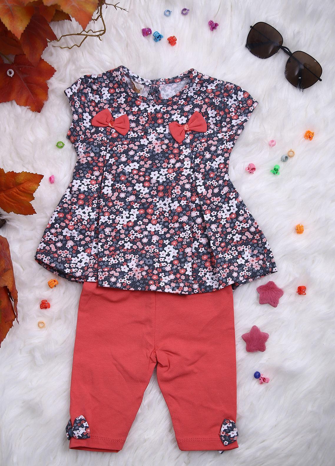 Sanaulla Exclusive Range Cotton Casual 2 Piece for Girls -  112214 Grey