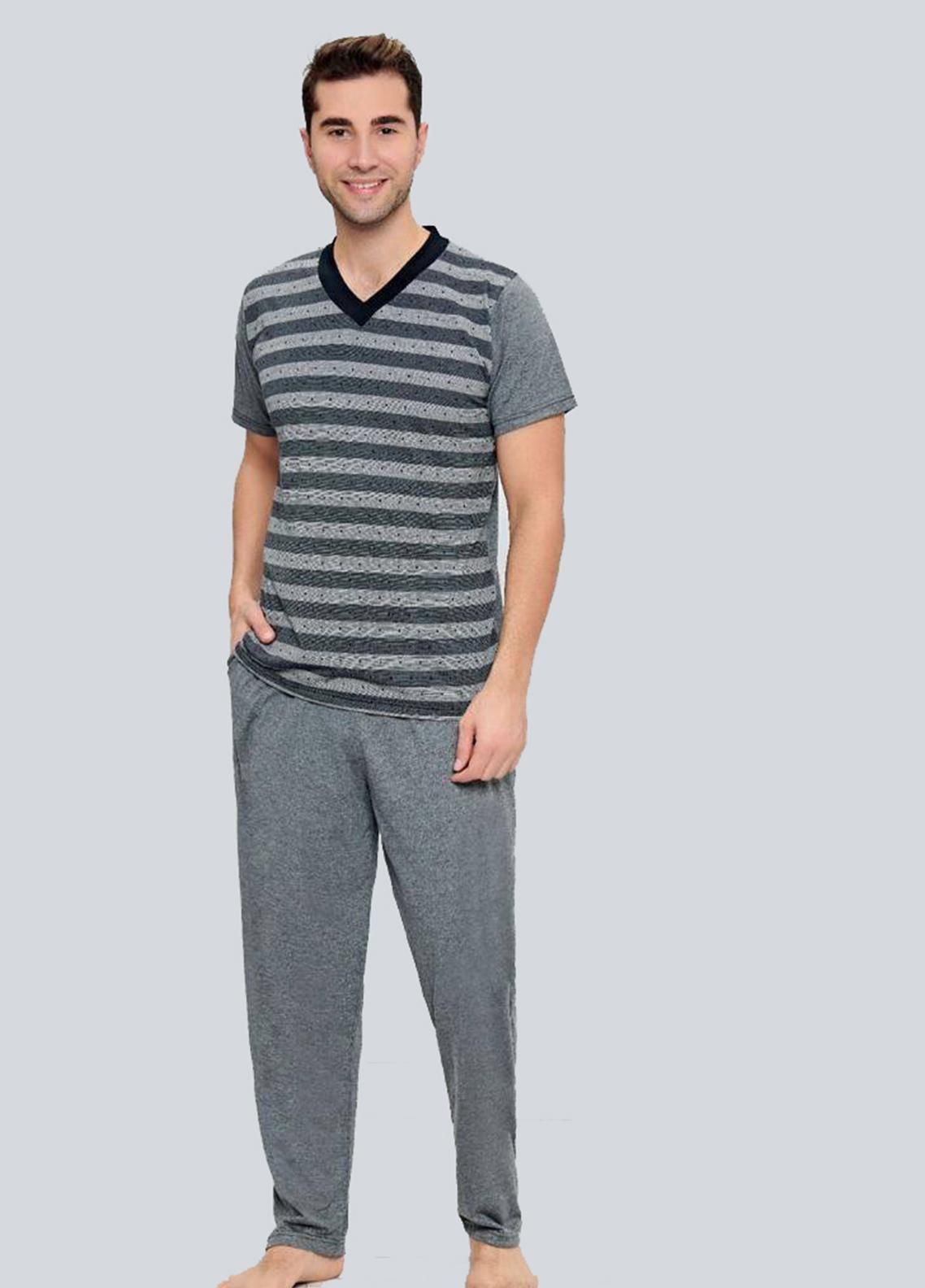 Cotton Men 2 Piece Home Wear SU21MH D-01 Grey