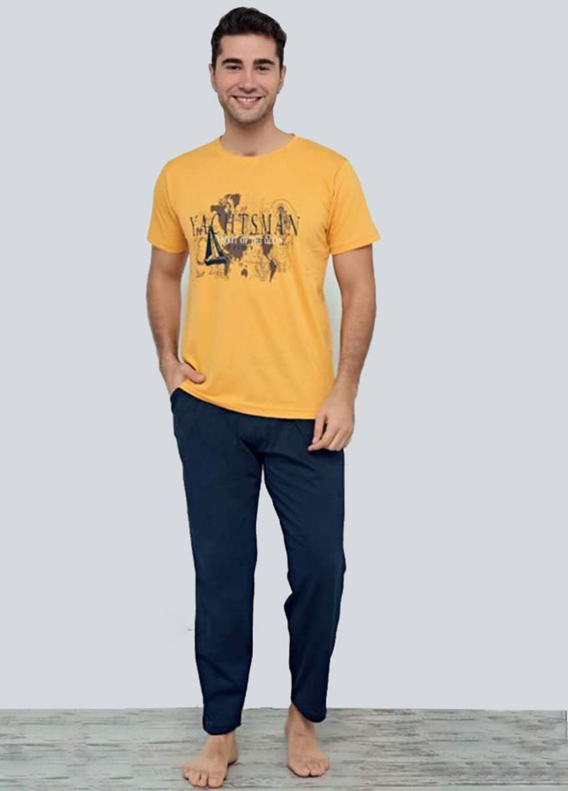 Cotton Men 2 Piece Home Wear SU21MH D-13 Yellow