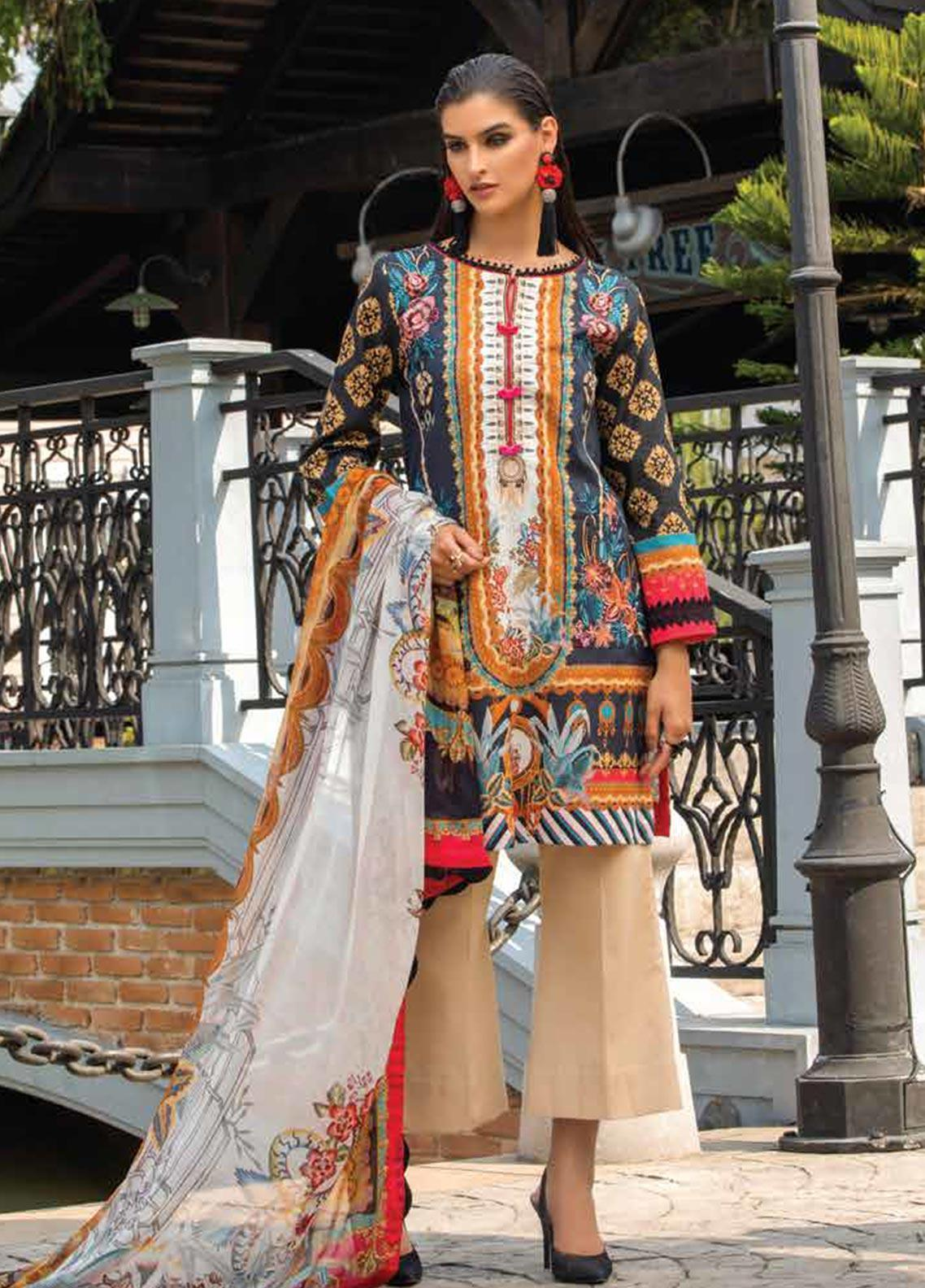 Sarang Embroidered Lawn Unstitched 3 Piece Suit S20LS 13 - Spring / Summer Collection