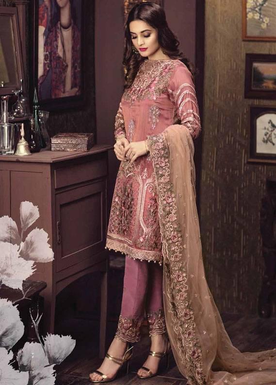 Serene Premium Embroidered Chiffon Unstitched 3 Piece Suit SC17C2 01
