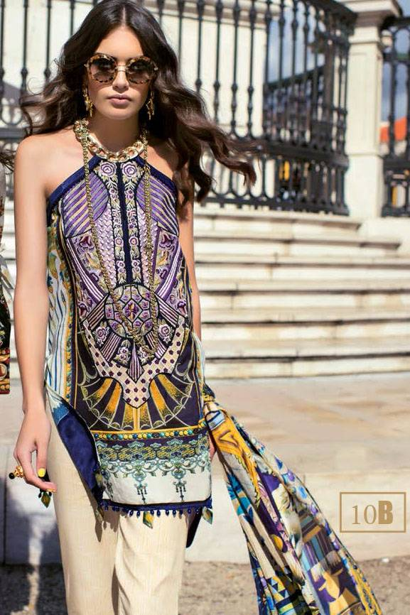 Shehla Chatoor Embroidered Lawn Unstitched 3 Piece Suit SC17L 10B