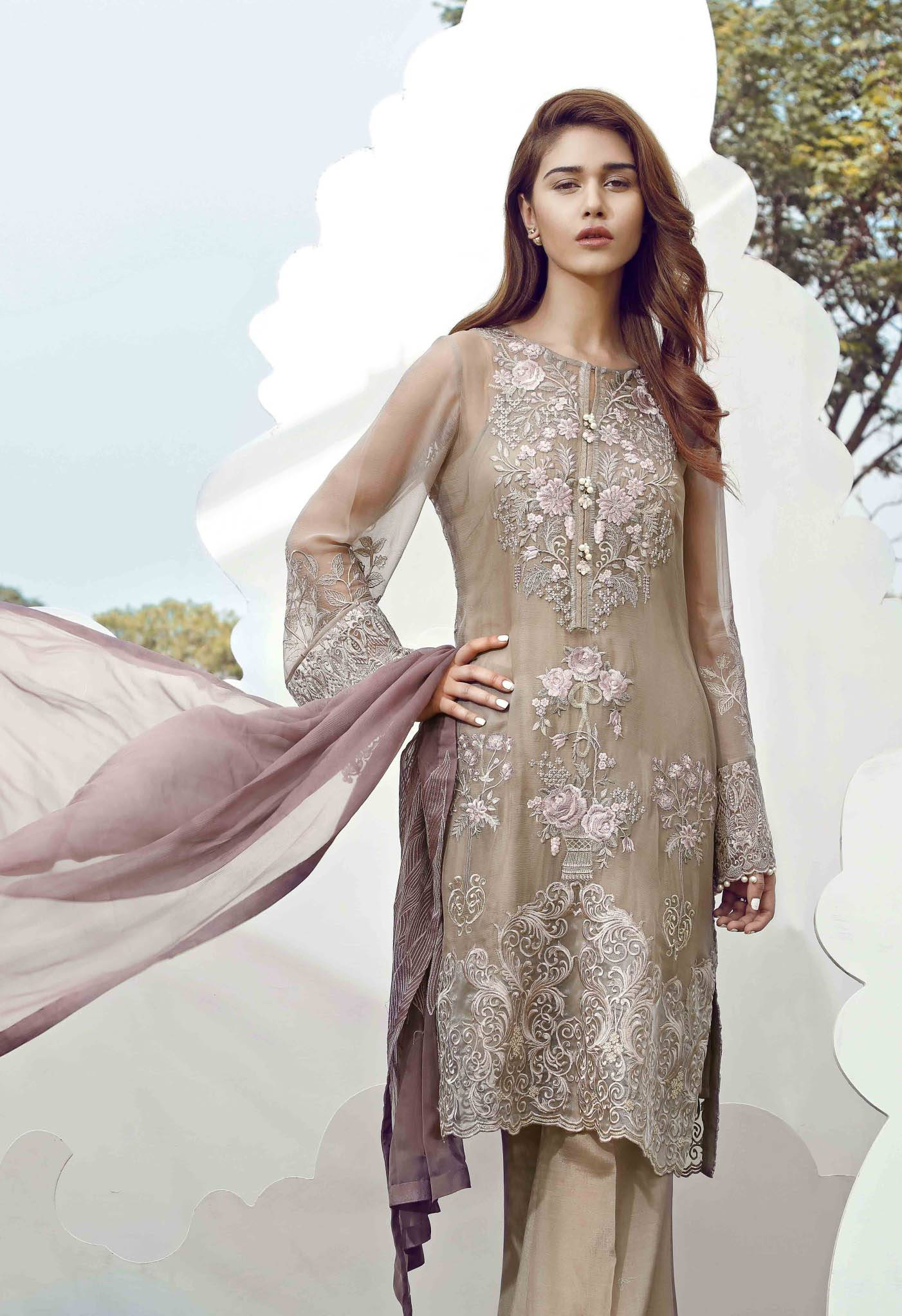 Serene Premium Embroidered Chiffon Unstitched 3 Piece Suit SE17C 06