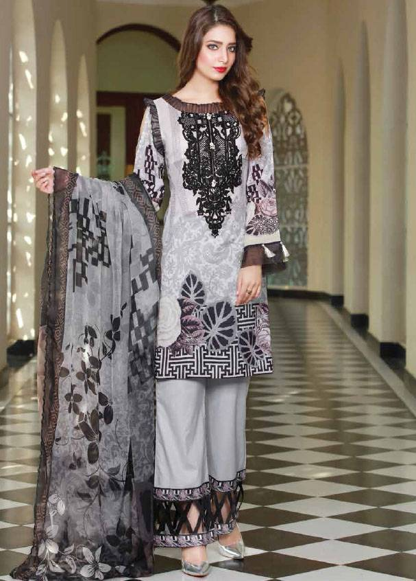 Sifona Embroidered Lawn Unstitched 3 Piece Suit SF17B 05