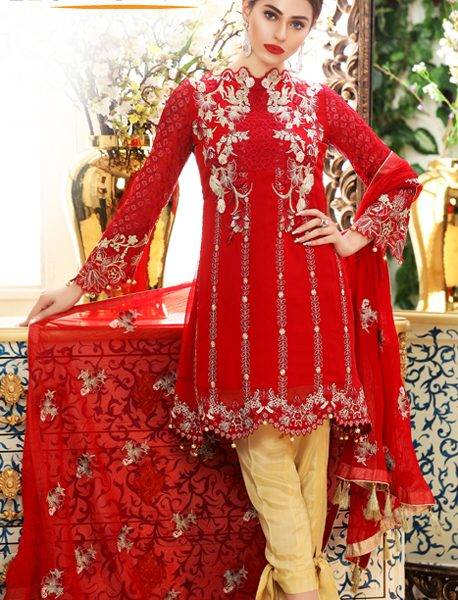 Sifona Embroidered Chiffon Unstitched 3 Piece Suit SF17E3 02