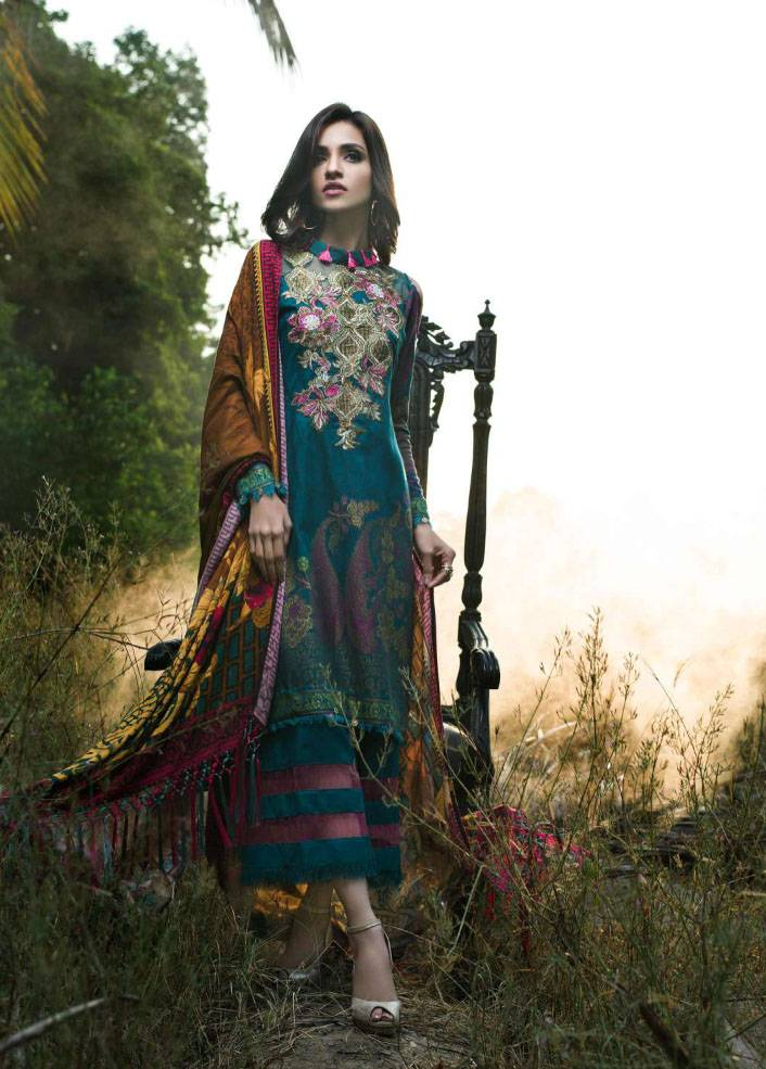 Sifona Embroidered Linen Unstitched 3 Piece Suit SF17W2 01