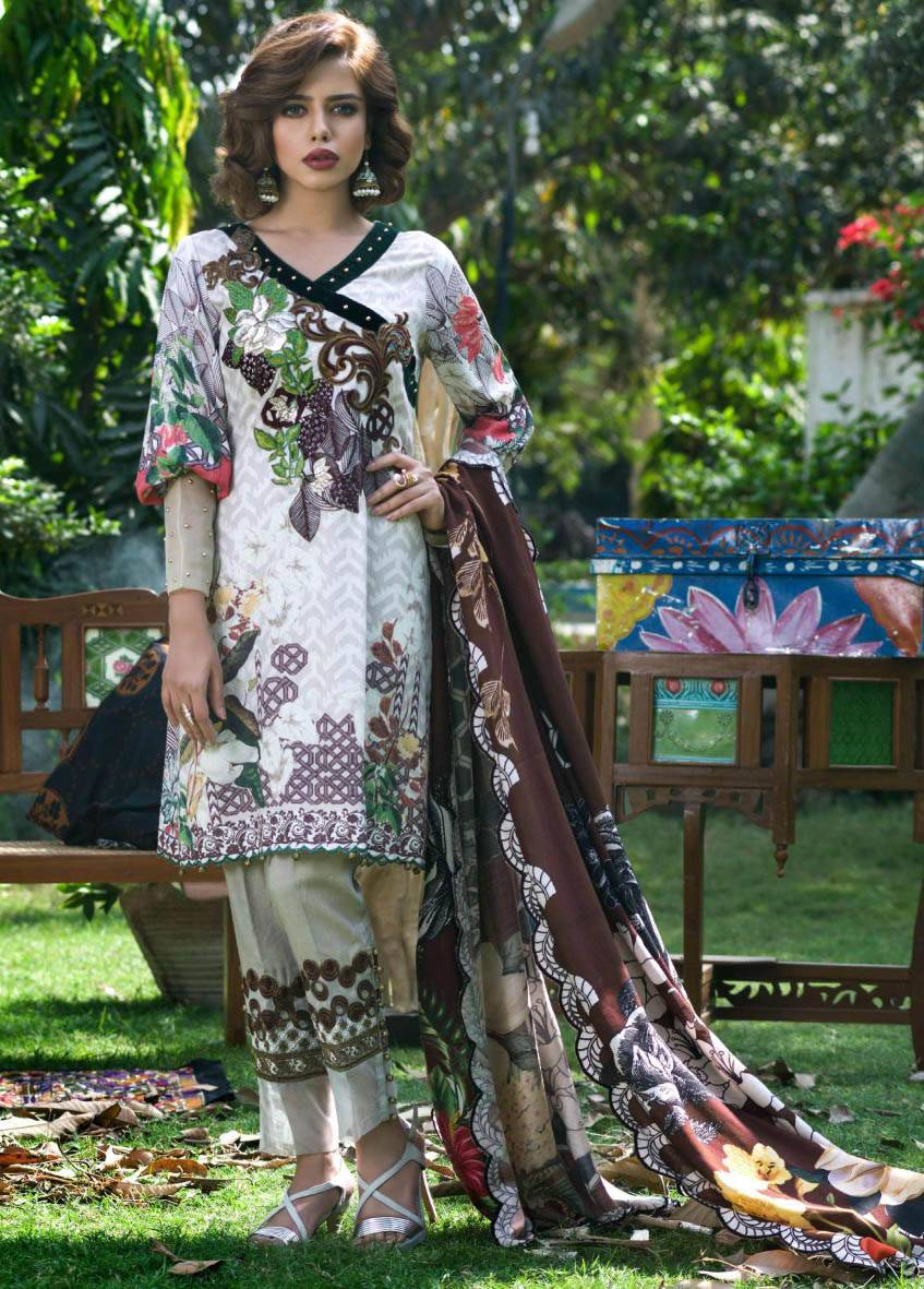 Sifona Embroidered Karandi Unstitched 3 Piece Suit SF17W2 06