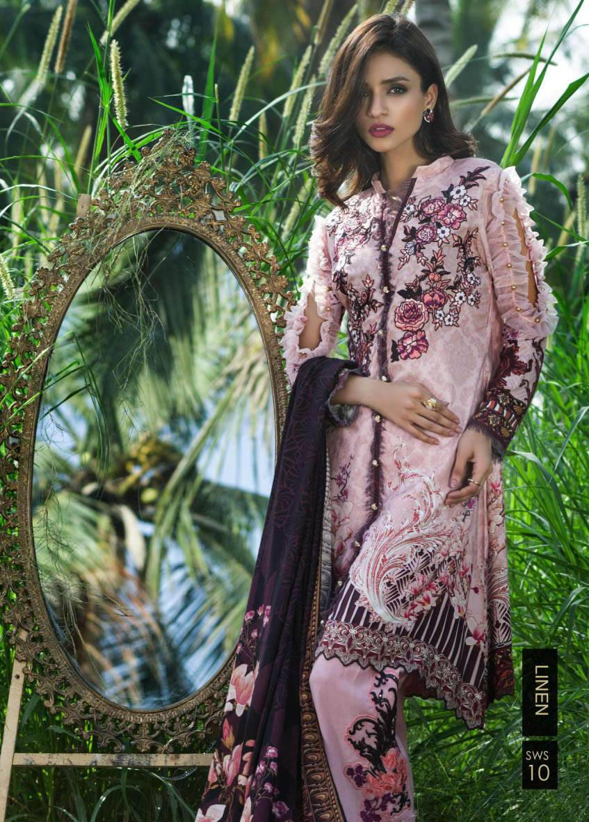 Sifona Embroidered Linen Unstitched 3 Piece Suit SF17W2 10